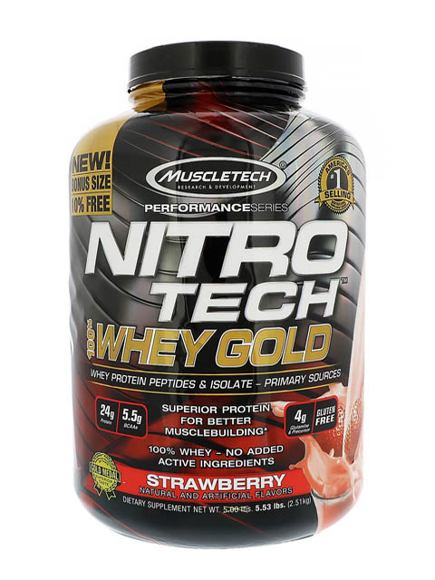 nitro-tech-whey-gold-6lbs strawberry